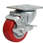 Càng bánh xe đế đỏ có khóa
