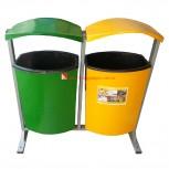 Thùng rác nhựa treo đôi dung tích 80 lít